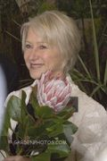 Helen Mirren and a protea at the 2009 Chelsea Flower Show. Helen-Mirren-2714