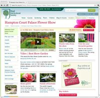 Hampton Court Palace Flower Show 2011. Image ©RHS